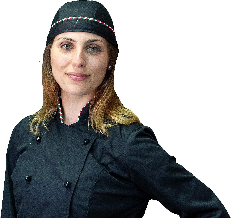 Made in Italy Uomo Taglie da XS a XXXXL Completo Cuoco Chef Pantalone Giacca e davantino Donna tessile astorino Ricamo Gratuito Vari Colori