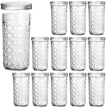 97b44334a313 Wide Mouth Mason Jars 22 oz, VERONES 22 OZ Mason Jars Canning Jars Jelly  Jars With Wide Mouth Lids, Ideal for Jam, Honey, Wedding Favors, Shower ...