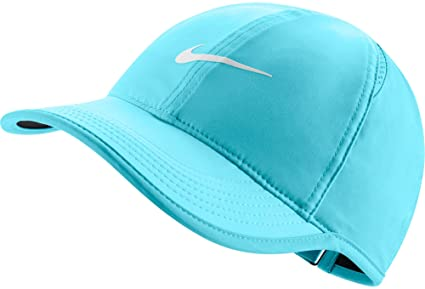 Nike para Mujer Feather Light Ajustable Gorro, Azul polarizado