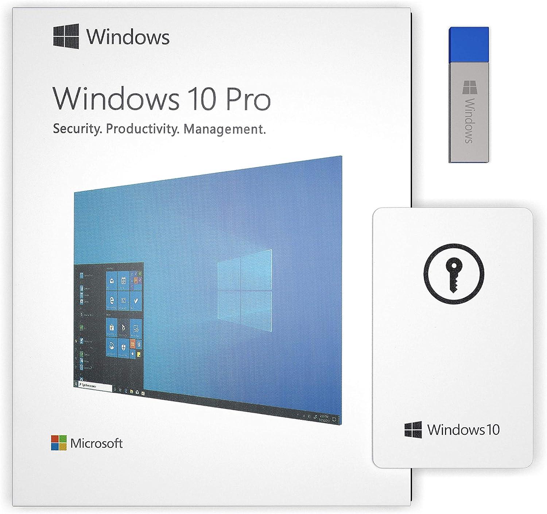 Windows 10 Professional 64 bit - USB Flash Drive - Upgraded Version | English