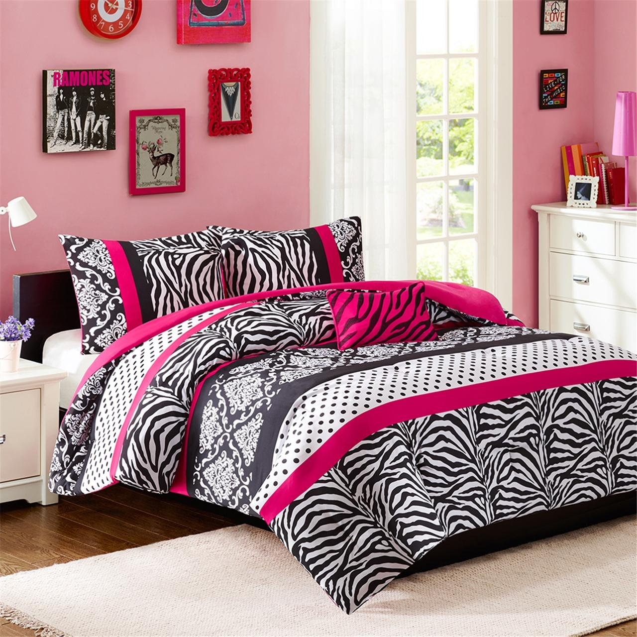 Mi-Zone Reagan Comforter Set, Pink, Twin/Twin X-Large