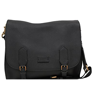 1dd6d07e65a GUCCI Men s Black Leather Messenger Bag 374249  Amazon.co.uk  Clothing