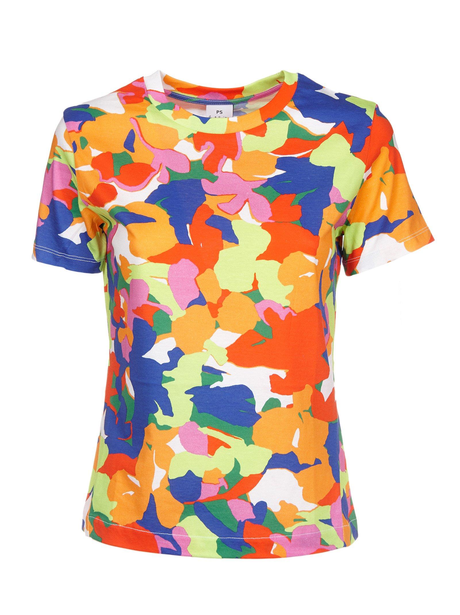 Paul Smith Women's Puxp079vp000392 Multicolor Cotton T-Shirt