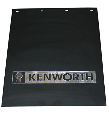 Semi Truck Mud Flaps >> Kenworth 24 X 30 Black Silver Poly Semi Truck Mud Flaps Pair