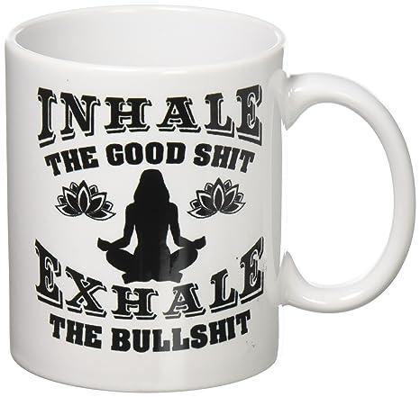 Amazon.com: Inhalar La Buena SH T Espire Bullsh t la yoga ...
