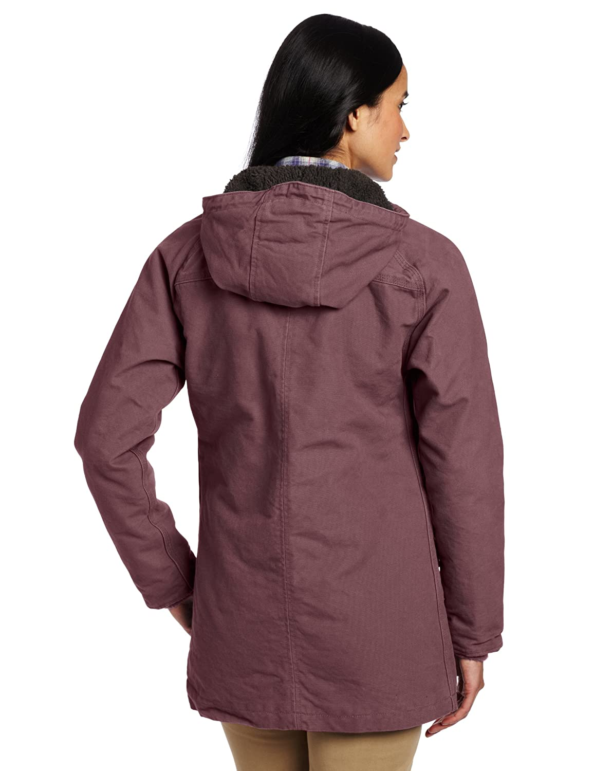 3f3ebe8f3d8 Carhartt Workwear 100045 Women's Sandstone Kenai Parka Dusty Plum S-REG:  Amazon.co.uk: Clothing