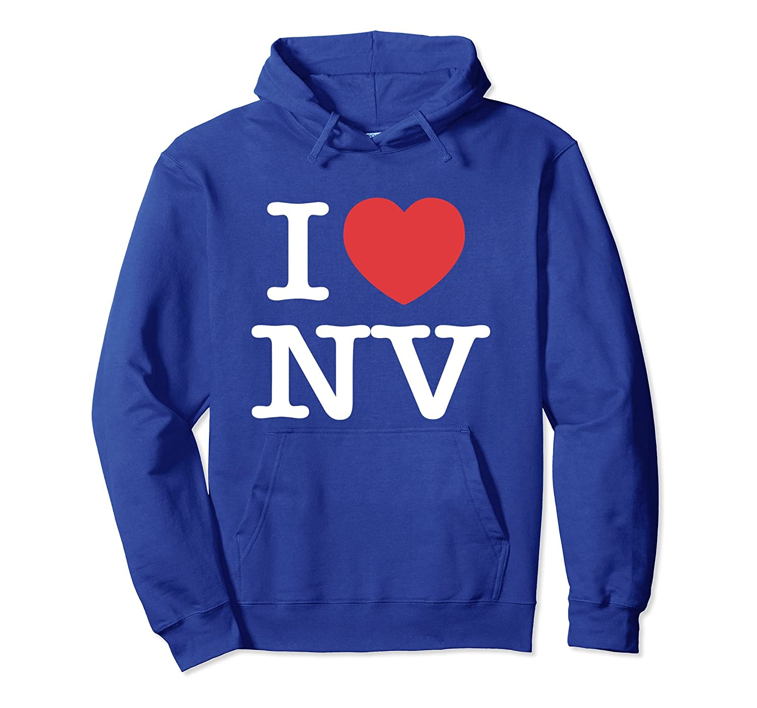 I Love NV Heart Nevada Pullover Hoodie-TH