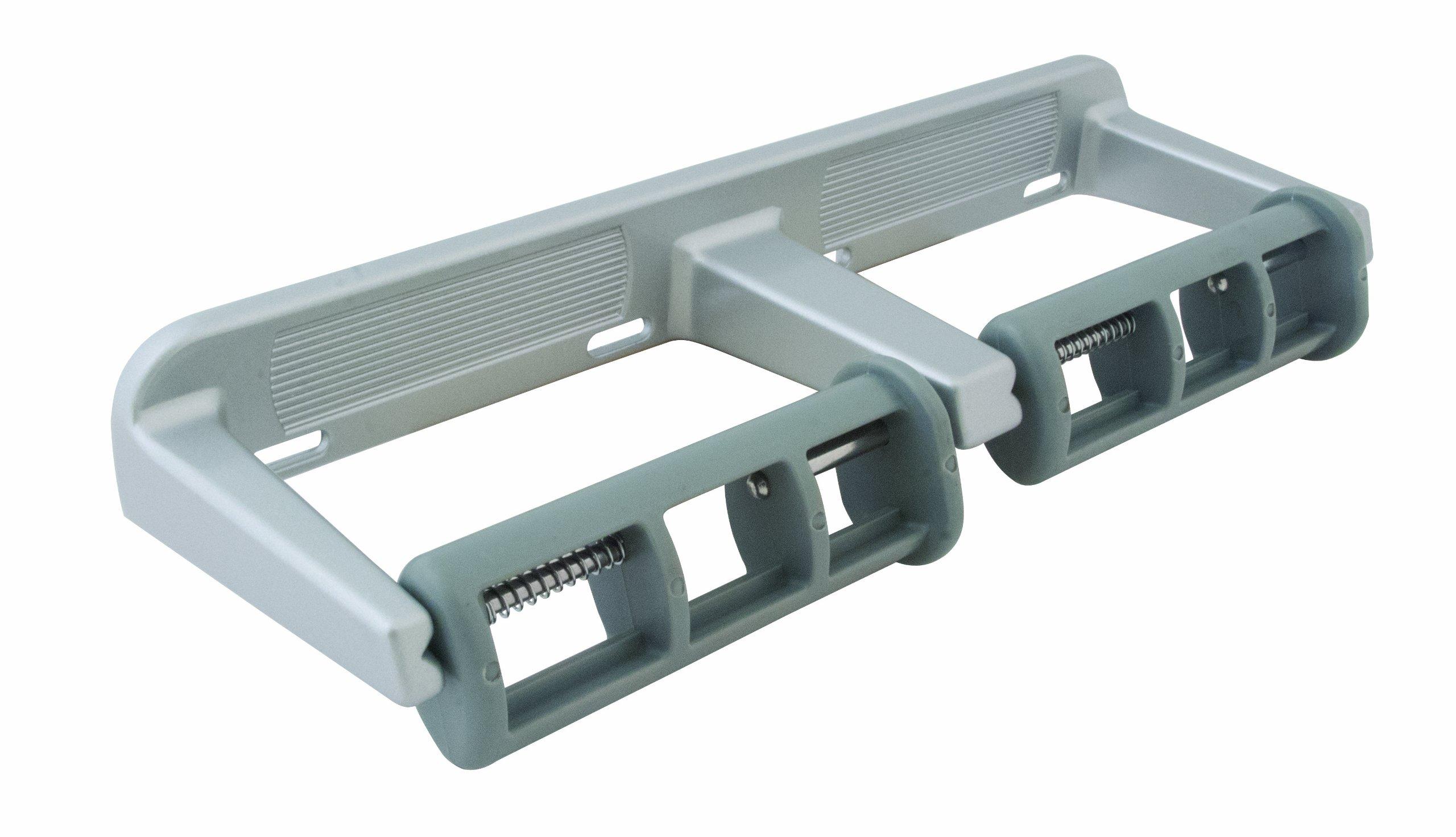 Bradley 5241-500000 Rocking Control Dual Roll Toilet Tissue Dispenser, 13'' Width x 1-3/4'' Height x 4-1/4'' Depth