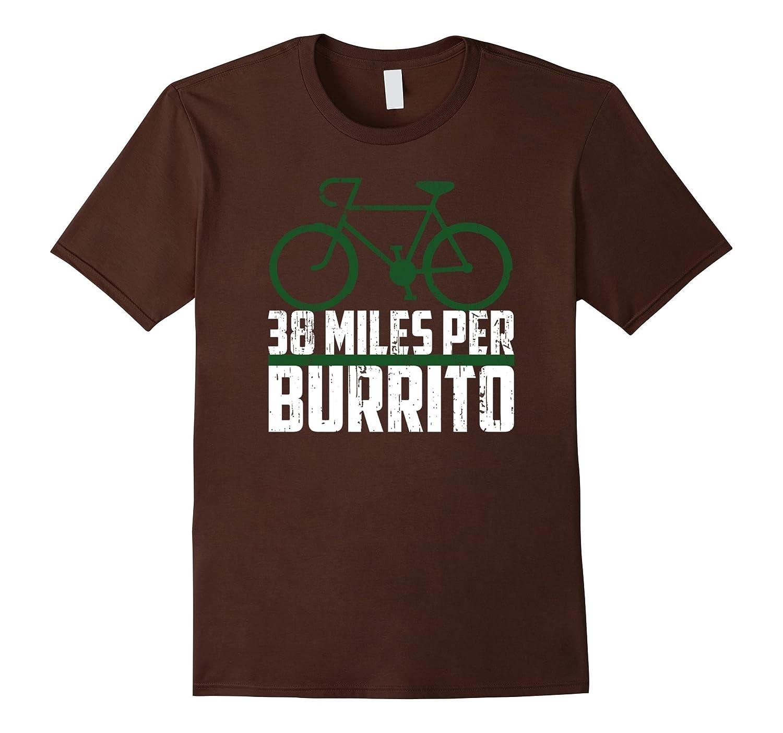 "THE OFFICIAL ""38 Miles Per Burrito"" Bike T-Shirt  Vintage"