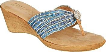 08345c1e3a62f ITALIAN Shoemakers Womens Cayman Wedge Sandals