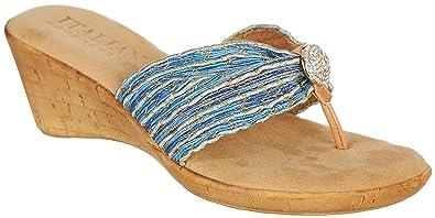 ba34c4242b Amazon.com | ITALIAN Shoemakers Womens Cayman Wedge Sandals | Sandals