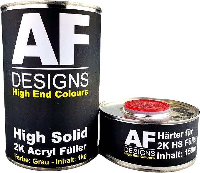 Alex Flittner Designs 2k Acryl Füller Grundierung Dickschichtfüller Rostschutz Filler 1 15kg Auto