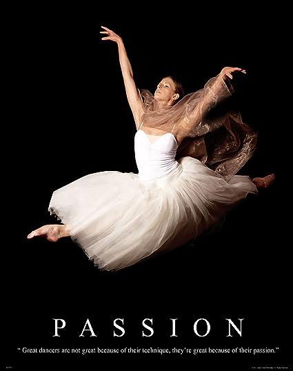 Ballet Dance Studio Ballerina Motivational Poster Art Print 11X14 MVP253