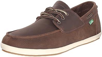 Sanuk Men's Casa Barco Deluxe Boat Shoe, Brown, ...