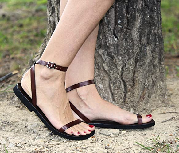 15911df428 Amazon.com: Sexy Summer Leather Sandals, Unique and Trendy Unisex Sandals-  Liberty: Handmade