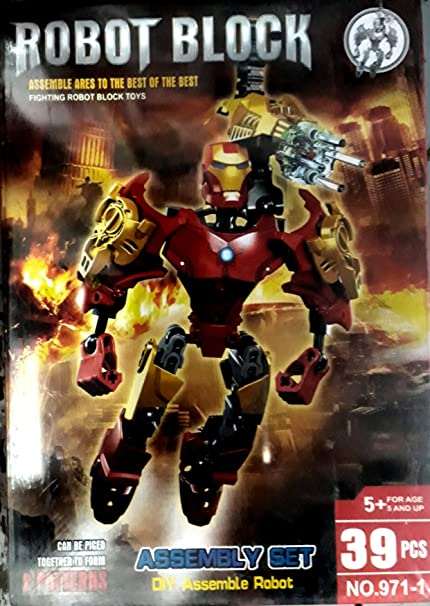 Buy Iron Man Robot Block Assembly Set Of 39 Pcs - Creative