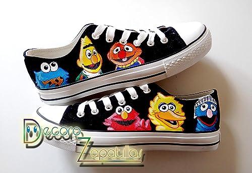 Zapatillas customizadas personalizados lona Barrio Sesamo ...