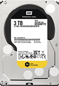 Western digital RE 3 TB Enterprise Hard Drive: 3.5 Inch, 7200 RPM, SATA III, 64 MB Cache - WD3000FYYZ (Old Model) Bullet - 5 years warranty from seller