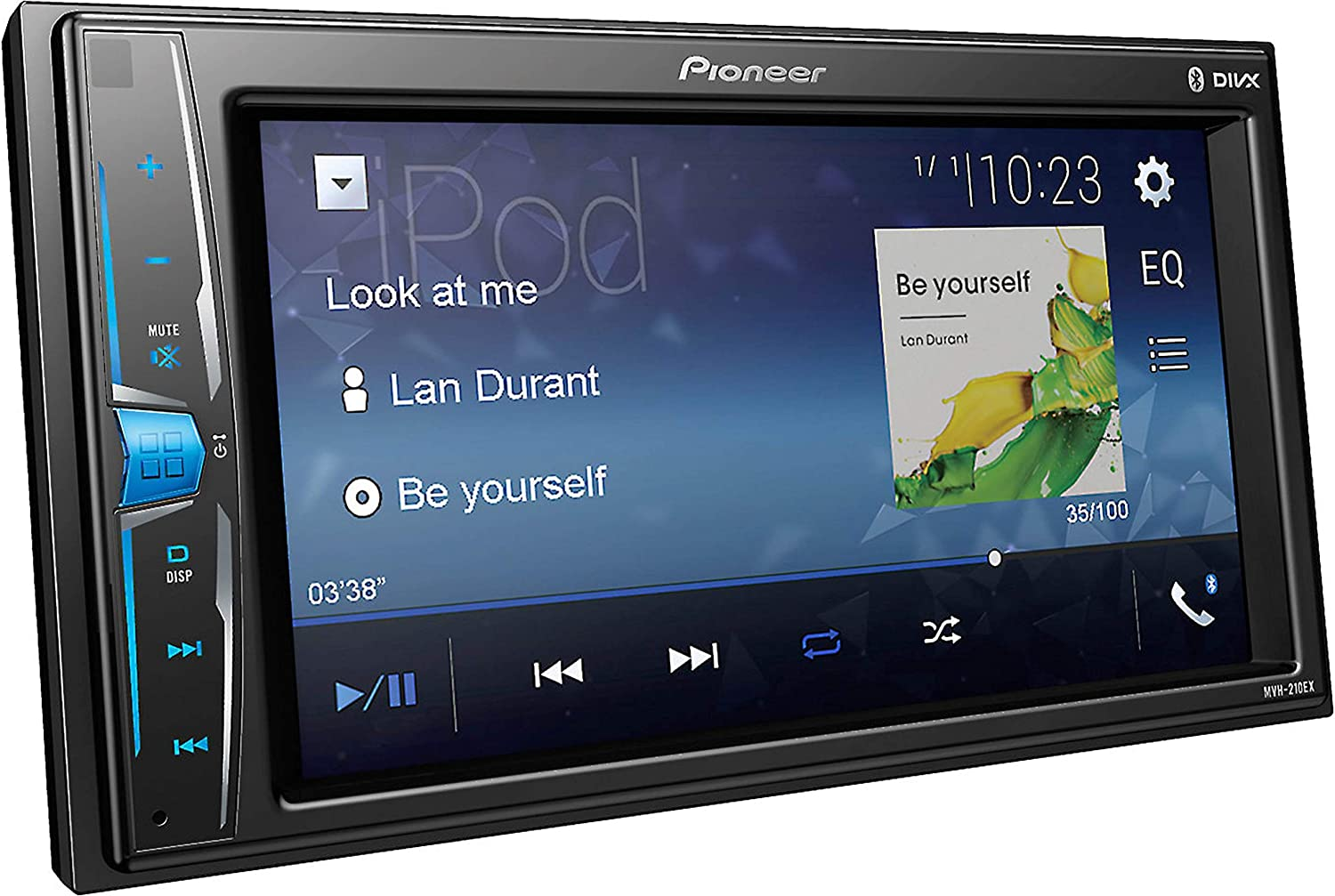 Pioneer MVH210EX 6.2 Double DIN in-Dash Multimedia A//V Receiver with Bluetooth