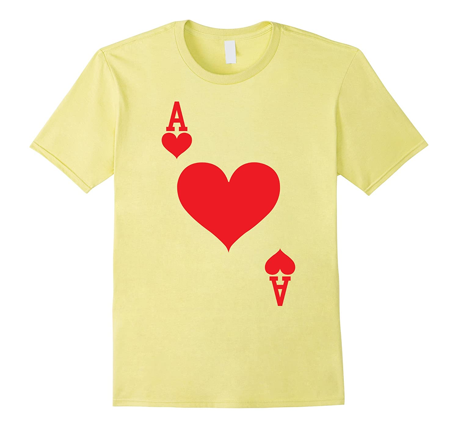 Ace of Hearts - Playing Card Halloween Costume T-Shirt-ANZ