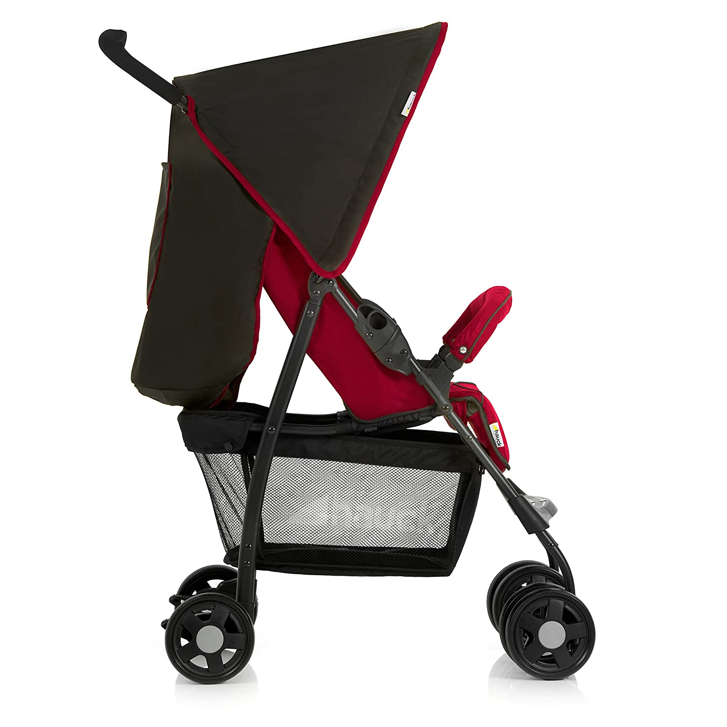 Pushchair from Birth to 15 kg with Lying Position Hauck Sport Easy and Compact Folding Sport Stroller Minnie Geo Pink Shopping Basket Bumper Bar