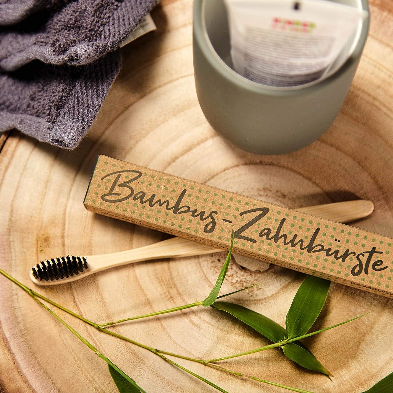 umweltschonend /& plastikfrei Handzahnb/ürste//Naturzahnb/ürste f/ür Kinder /& Erwachsene 100/% nachhaltig 4er Pack Zahnb/ürste aus Bambus vegan Holzzahnb/ürste f/ür weisse Z/ähne