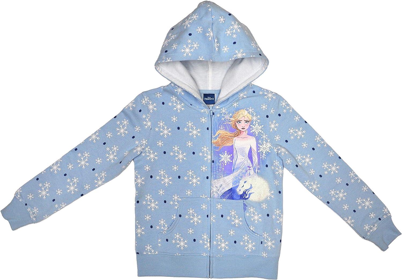 Disney Frozen II Girls Zip Hoodie Elsa Print /& Gift Bag