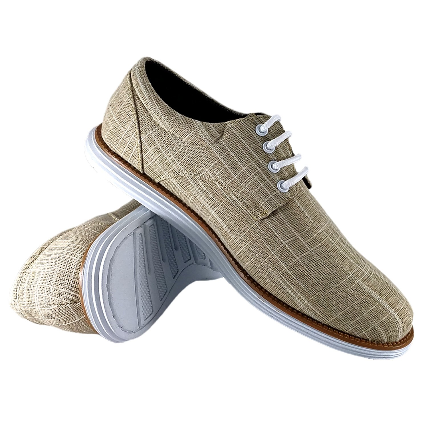 reverse Men's Oxford Dress Comfort Everyday Walking Lace-up Shoe, Beige 9 D(M) US