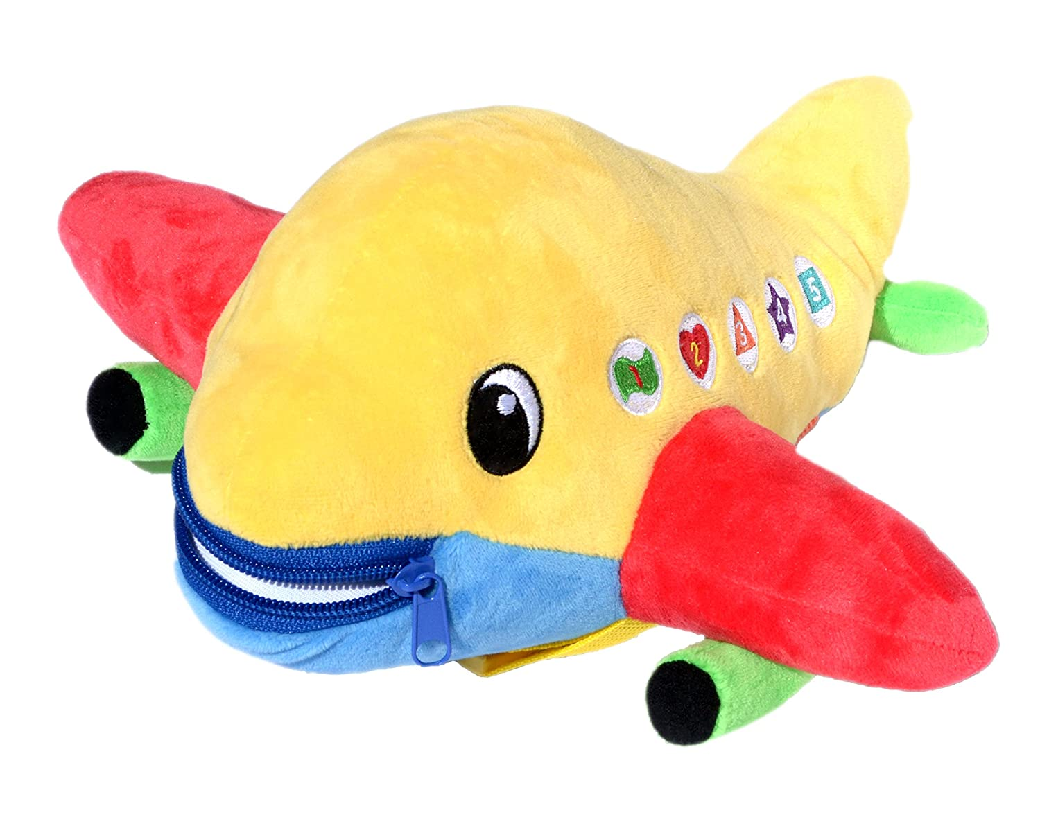 BUCKLE TOY Bolt Airplane Toddler Early Learning Basic Life Skills Children's Plush Travel Activity