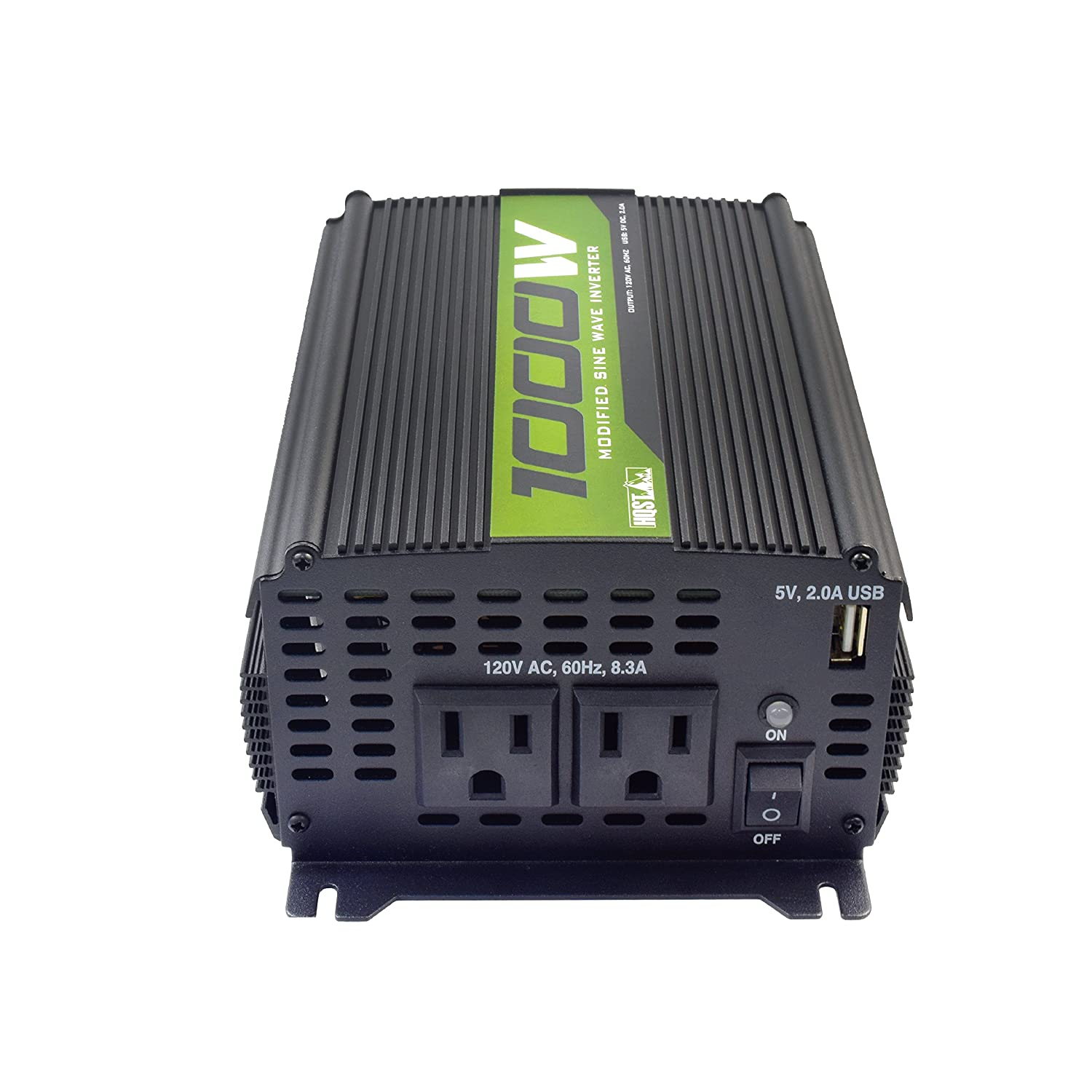 Hqst 1000w Off Grid Power Inverter 12v Dc To 110v Ac Modified Sine Wave Using Pic Microcontroller Dual Outlets With Usb Port And Cables Car Electronics