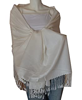 9f35539ad80 New Best Soft 100% Pashmina Scarf Shawl Wrap Stole (Cream) at Amazon ...