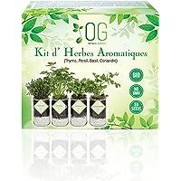 OG Kit Huerto Urbano - Kit Completo de 4 Plantas aromaticas (Tomillo, Cilantro, Albahaca y Perejil), 100% Semillas Bio…