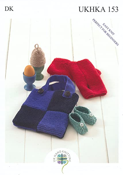 Double Knitting Dk Pattern For Easy Knit Baby Shoes Egg Cosy Wrist