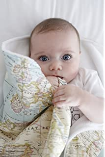Arrullo bebé supersuave recien nacido 10 estampados by Mimuselina (Mapamundi) o mapa mundi -