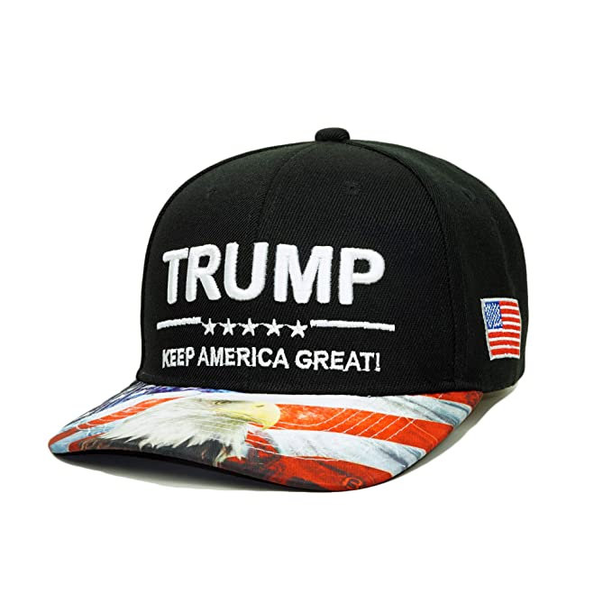bfebe6f9215 Trump 2020 Make America Great Again Campaign Hat USA Baseball Cap (Black)