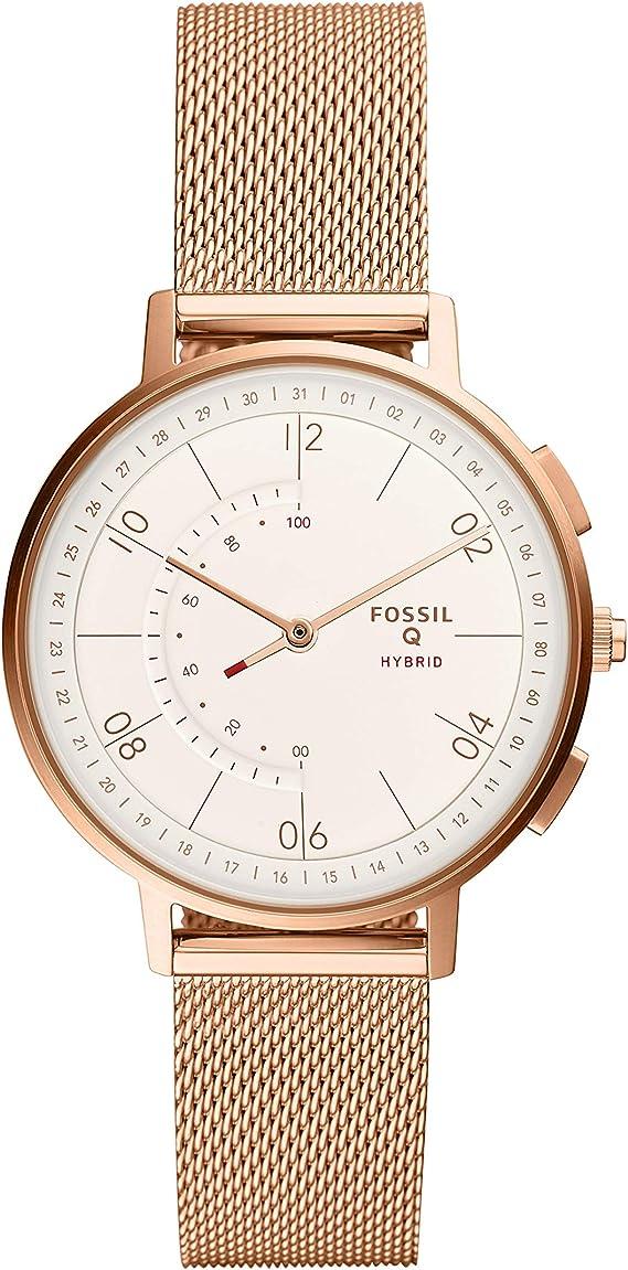 Amazon.com: Fossil Womens Hybrid Smartwatch Analog-Quartz ...