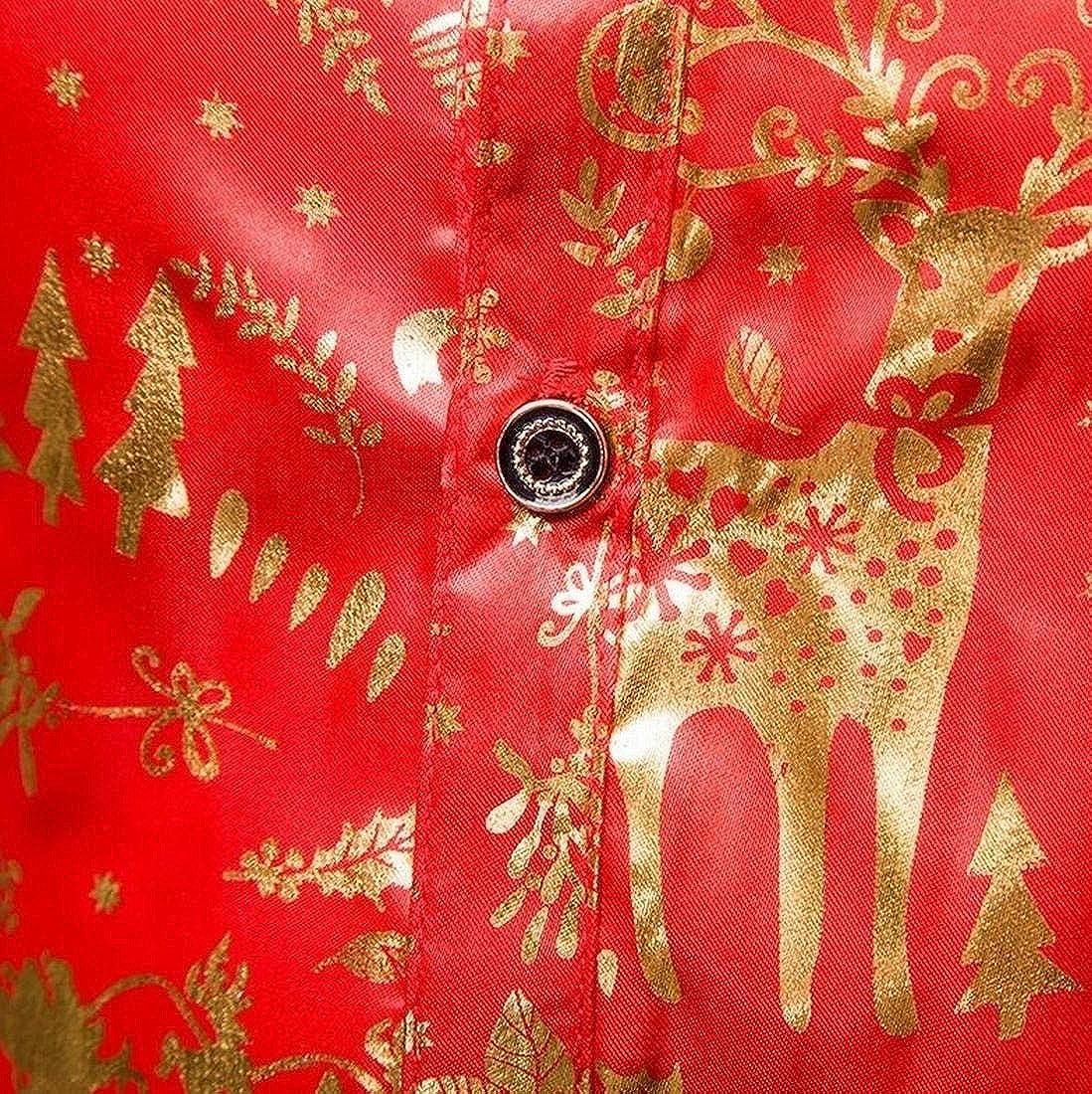 Fensajomon Mens Fall /& Winter Long Sleeve Button Up Elk Printed Christmas Slim Dress Blazer Jacket Suit Coat XL