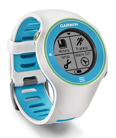 Garmin Forerunner 610 GPS Running Watch with Heart Rate Monitor - White/Blue/Green