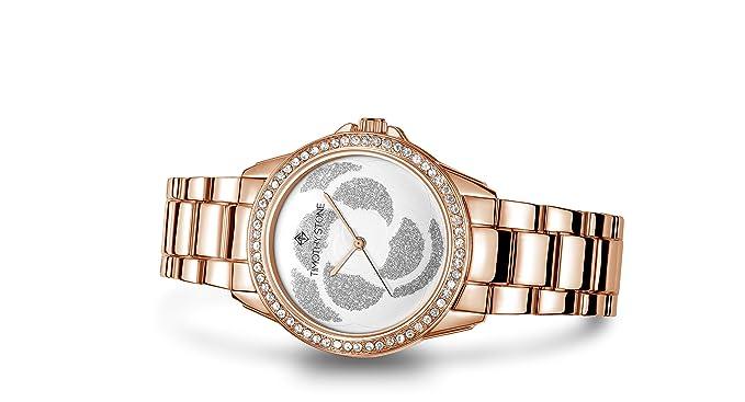 Timothy Stone Colección Katy - Reloj de Cuarzo para Mujer, Color Oro Rosa: Amazon.es: Relojes