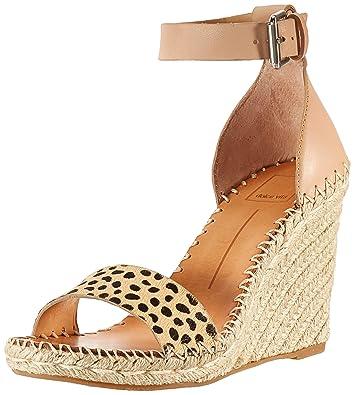 54a648239ced Dolce Vita Women's Noor Wedge Sandal, Leopard Calf Hair, ...