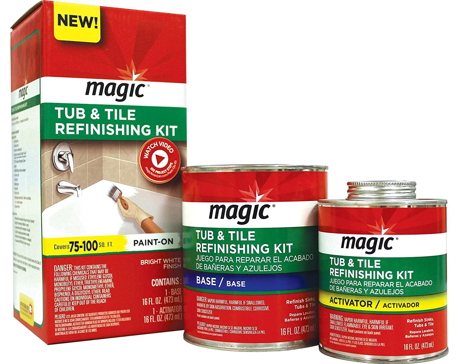 3. Magic Tub and Tile Refinishing Kit — Paint On