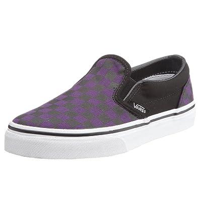 62215bad657 Vans Kids Classic Slip-On (MEDIUM CHECKERBOARD) gothic grape black VEXS0VT  2.5 UK  Amazon.co.uk  Shoes   Bags