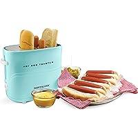 Nostalgia Pop Up Hot Dog Toaster, 2 Dog & Bun, Aqua