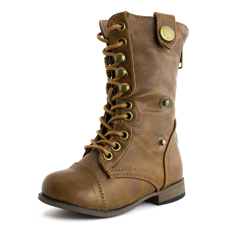 Toddler Girls Lace /& Zipper Low Heel Boots