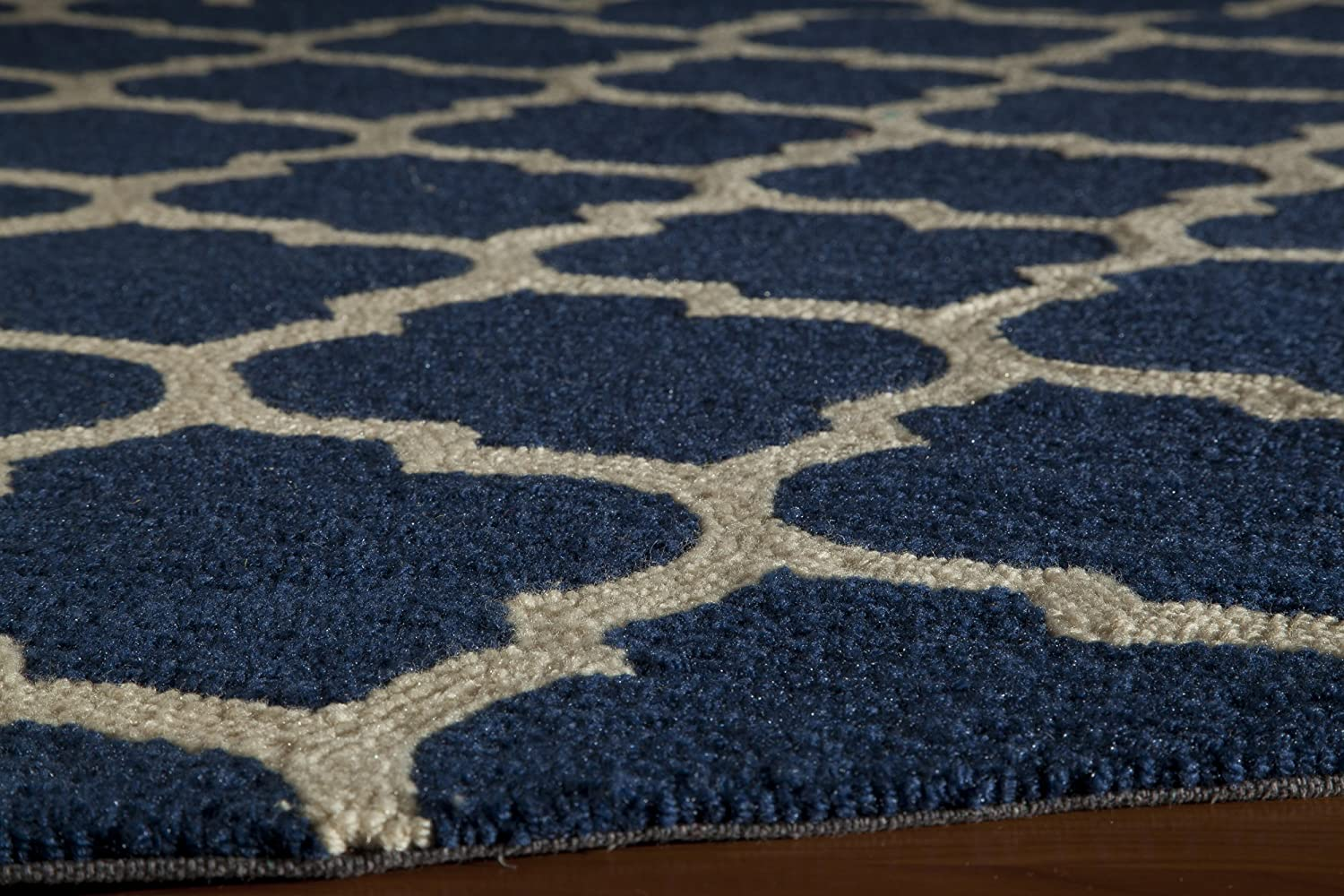 Momeni Rugs GEO00GEO-4NVY2030 Geo Collection Hand Hooked Contemporary Area Rug 2 x 3 Navy Blue