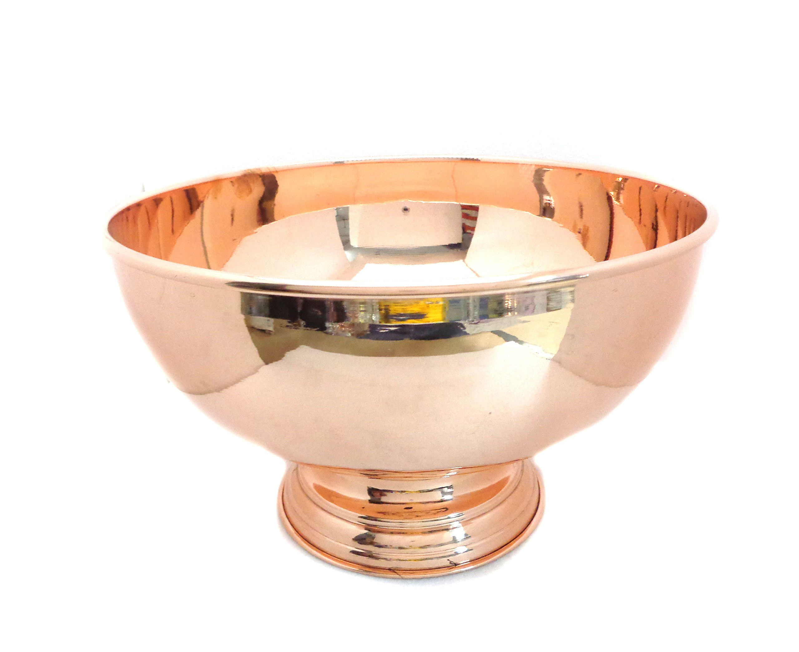 Copper Punch Bowl 12'' - 100% Pure Copper Punch Bowl (6 LITER CAPACITY) by Alchemade