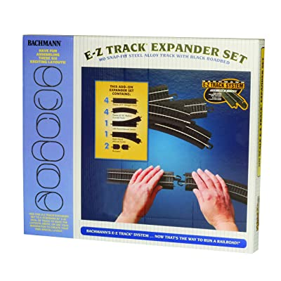 Bachmann Trains - Snap-Fit E-Z TRACK LAYOUT EXPANDER SET - STEEL ALLOY Rail With Black Roadbed - HO Scale: Toys & Games