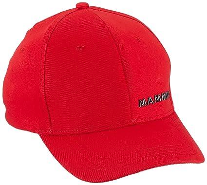 Mammut Kappe Baseball Logo - Gorra para Hombre, Color Rojo, Talla ...