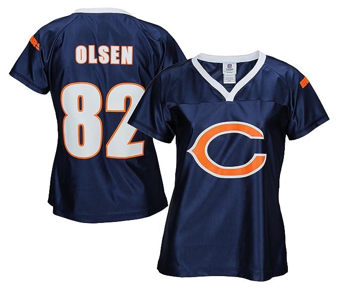 Chicago Bears NFL Womens GREG OLSEN   82 Fashion Dazzle Jersey 438affee8