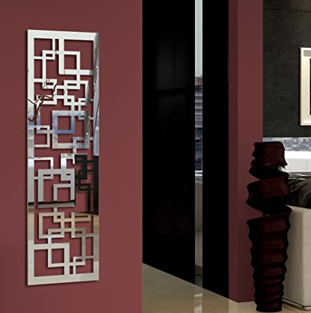 Wandgarderobe / Garderobe Design Quadrat, 140x40x2 Cm, Edelstahl  Hochglanzpoliert (Spiegeloberfläche) (Marke